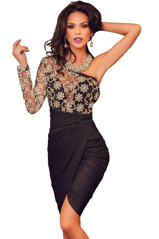 Golden-Lace-Black-Tulle-Evening-Dress-LLC61000P-2-1