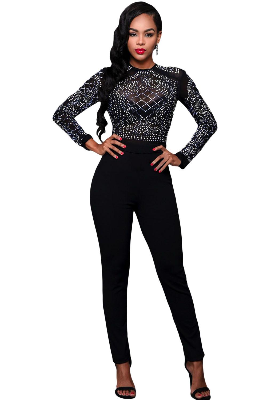 black-long-sleeves-rhinestone-mesh-bodice-formfitting-jumpsuit-llc64168p-2-1