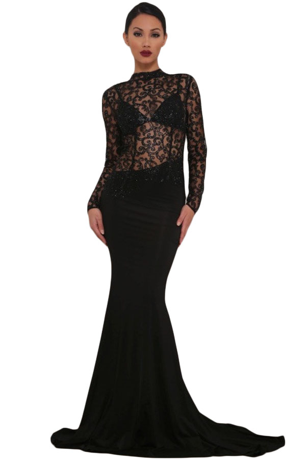 black-sheer-glitter-mock-neck-cut-out-back-maxi-evening-gown-llc61028p-2-1