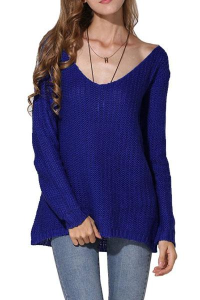 blue-retro-loose-v-neck-cozy-oversized-sweater-llc27609p-5-1