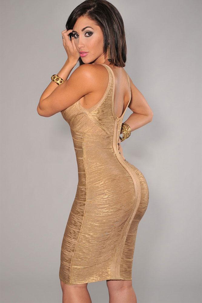 gold-v-neck-foil-detail-crisscross-bandage-dress-llc28072p-2-2