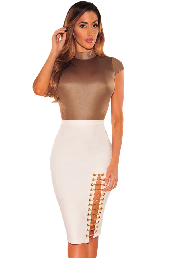 white-gold-chain-slit-skirt-llc65011p-1-1