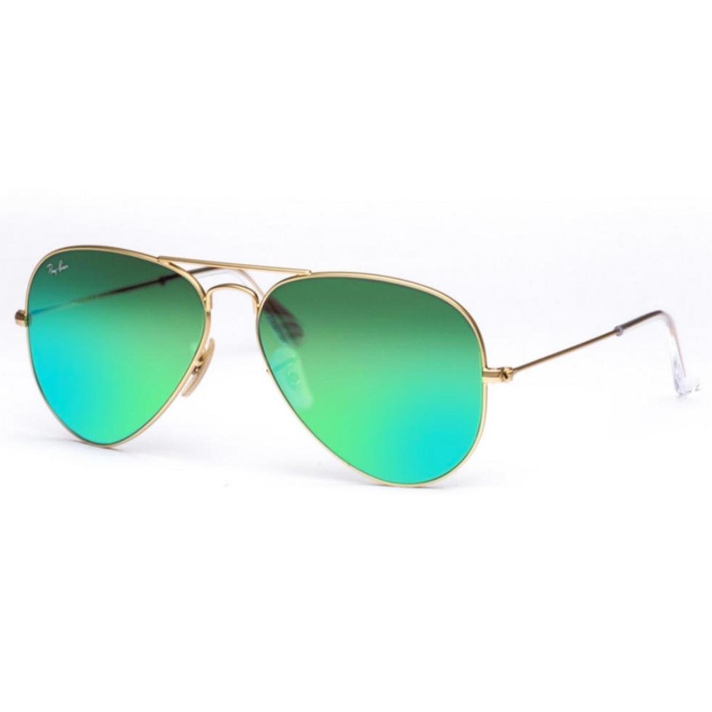 e9a20d6535 Lunettes de soleil Ray-Ban Aviator Classic RB3025-112/19 Bleu-vert miroir -  Prix Fous