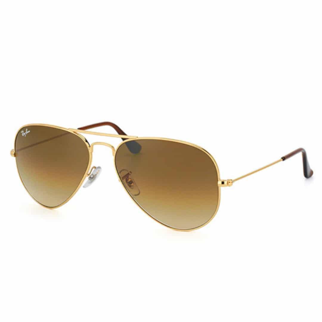 Lunettes de soleil Ray-Ban Aviator Classic RB3025-001 51 Doré Marron ... 63c451d7dc74